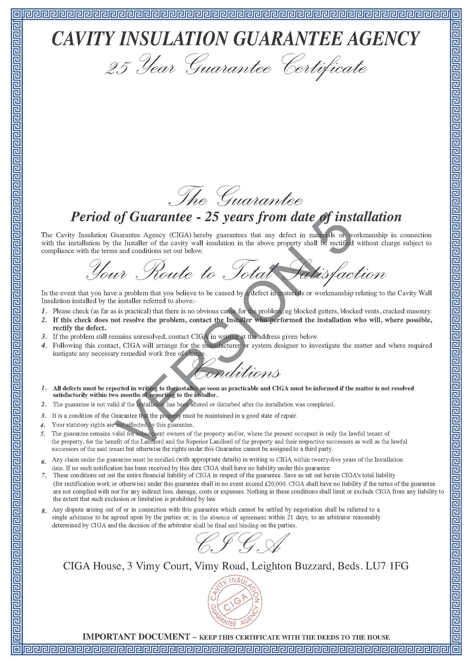 Insulation Certificate Template About Ciga Ciga