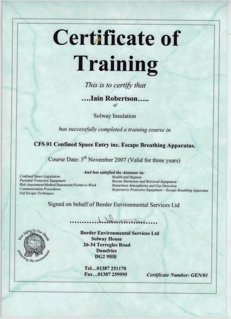 asbestos awareness certificate template