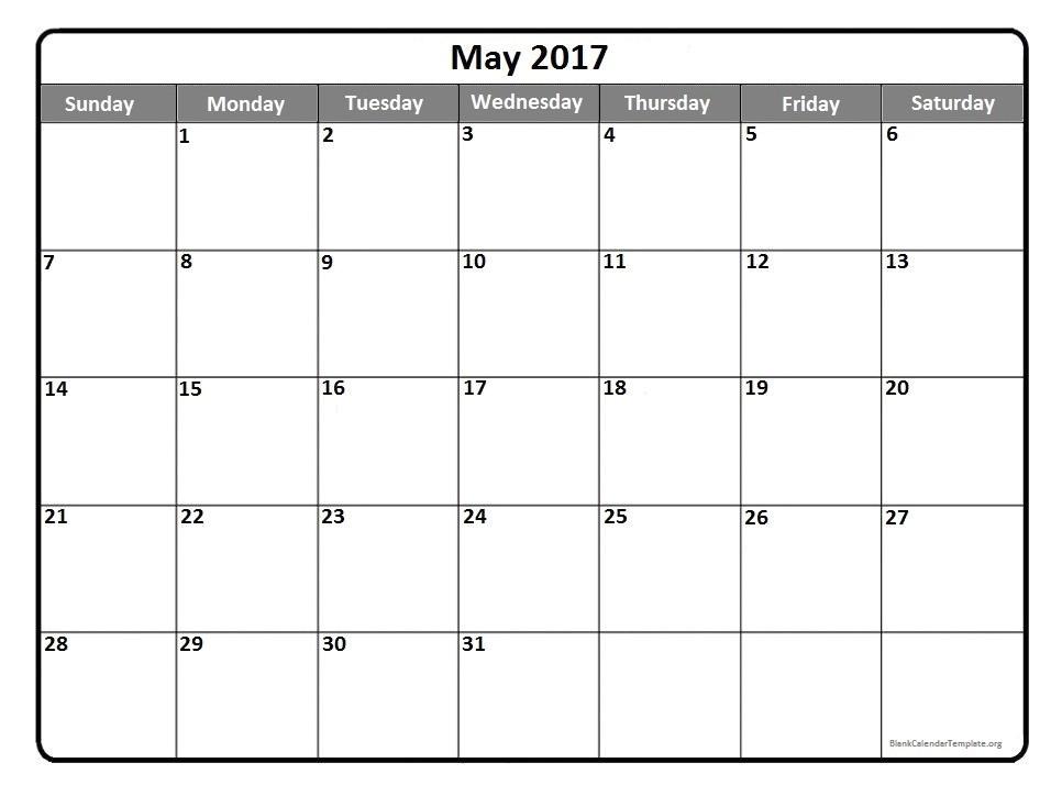cal may 2017 calendar
