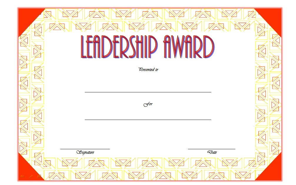 Leadership Certificate Templates Word Leadership Award Certificate Template 1 Best 10 Templates