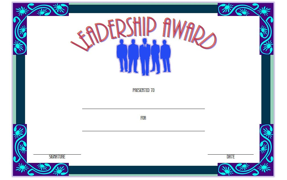 leadership award certificate templates