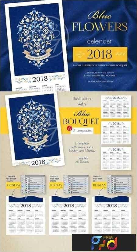 1706082 2018 blue flowers calendar vol 1 1655769