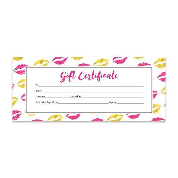 Lipsense Gift Certificate Template Free Gold Lips Lips Hot Pink Lipsense Pink Lips Blank Gift