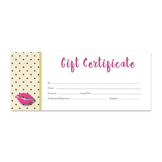 Lipsense Gift Certificate Template Free Lips Lipsense Pink Lips Blank Gift Certificate Download