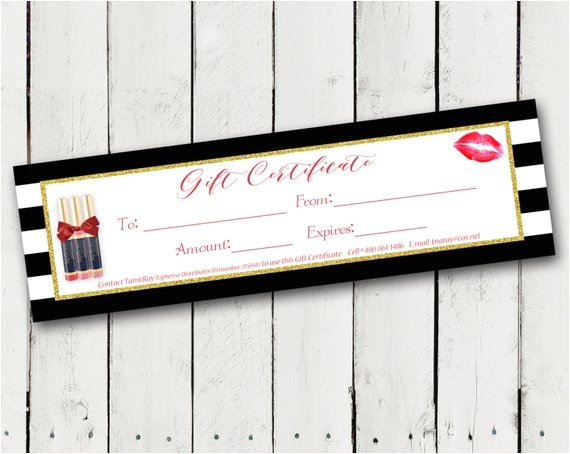 Lipsense Gift Certificate Template Free Lipsense Gift Certificates for Lipsense Distributors