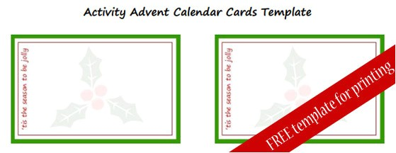 our super simple activity advent calendar with free template