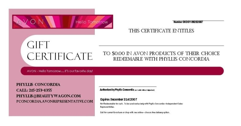 makeup gift certificate template avon gift certificate example throughout makeup gift certificate template