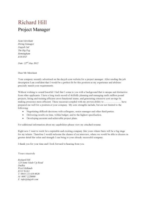 Management Cover Letter Templates Free Cover Letter Examples Template Samples Covering Letters