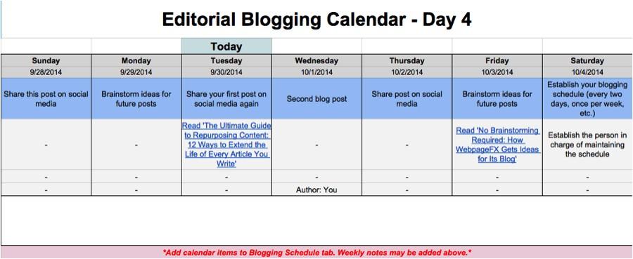 google doc template calendar