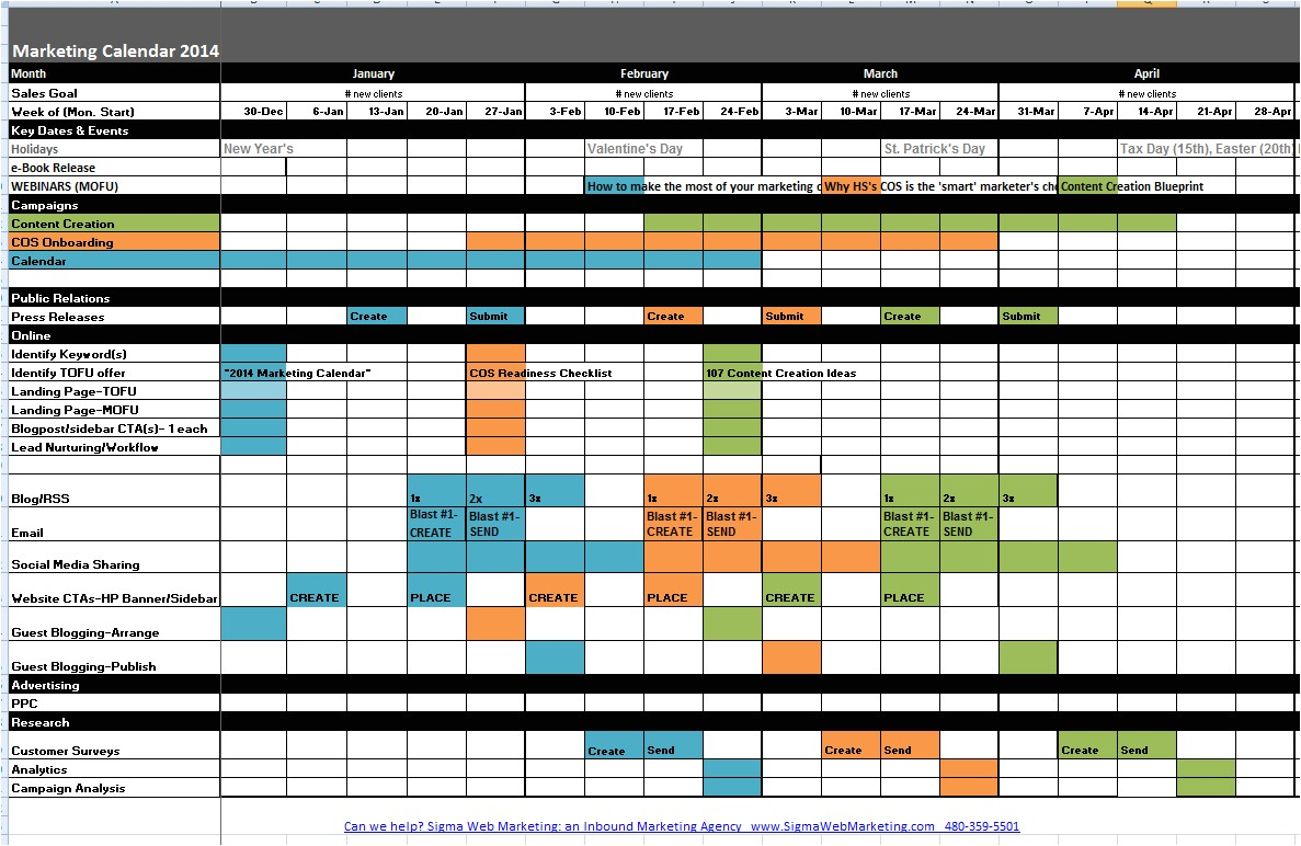 Marketing event Calendar Template Marketing Calendar Template Cyberuse