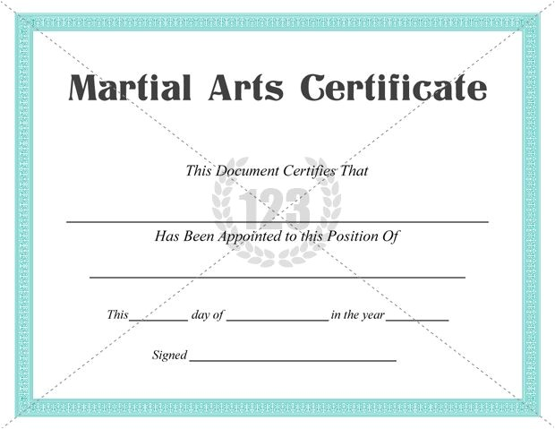 Martial Arts Gift Certificate Template Best Martial Arts Certificate Templates for Free Download