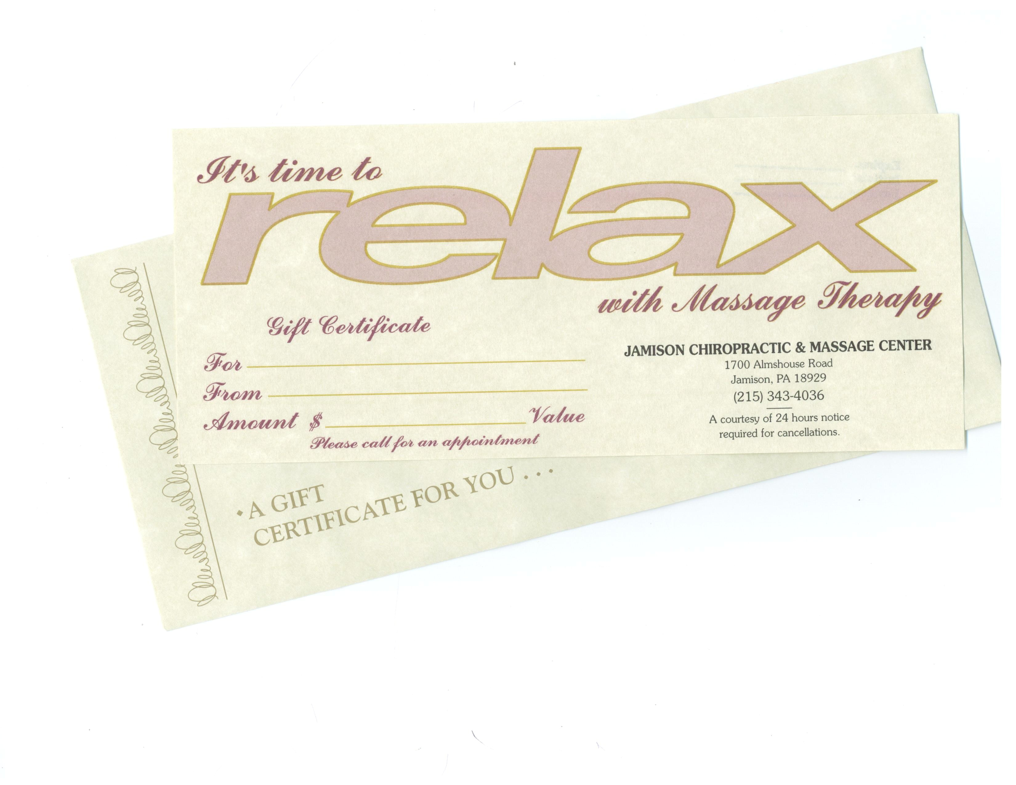 post printable massage gift certificate template 330365
