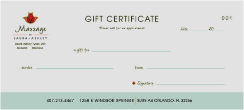 Massage Certificates Templates Free 500px