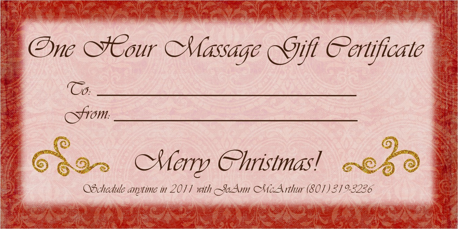 Massage therapy Gift Certificate Template 1500px
