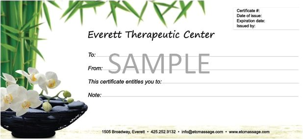 Massage therapy Gift Certificate Template 6 Best Images Of Massage Gift Certificate Template