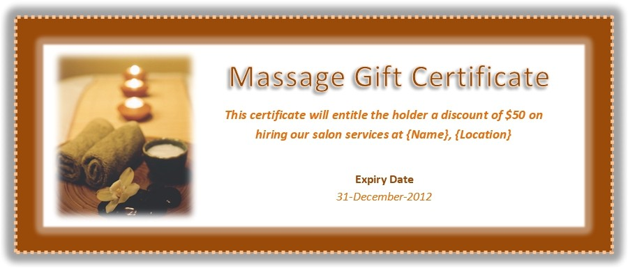 Massage therapy Gift Certificate Template Free Massage Gift Certificate Template Journalingsage Com