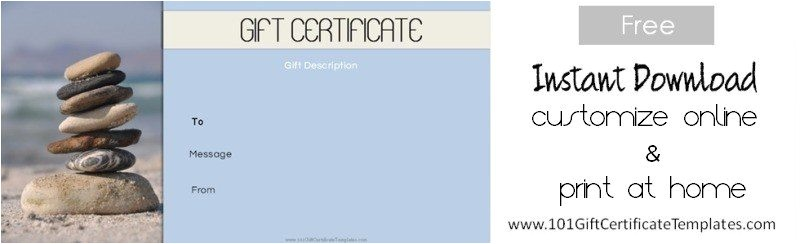 Massage therapy Gift Certificate Template Spa Gift Certificates