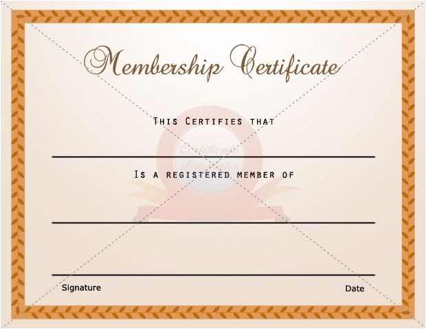 Membership Certificates Templates 15 Best Membership Certificate Template Images On