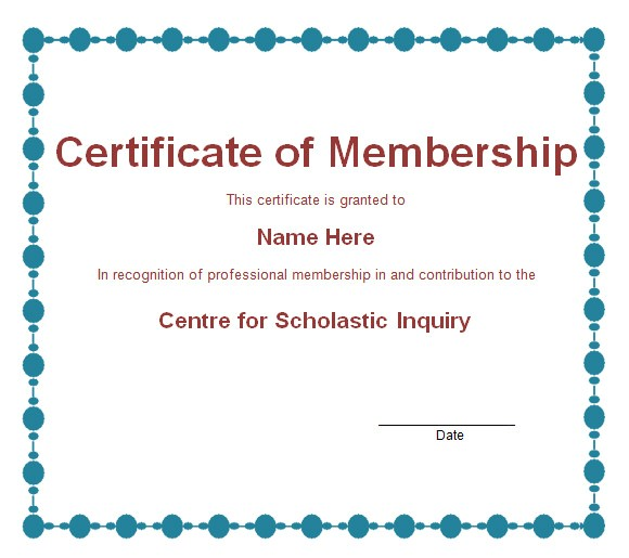 Membership Certificates Templates 15 Membership Certificate Templates Free Samples