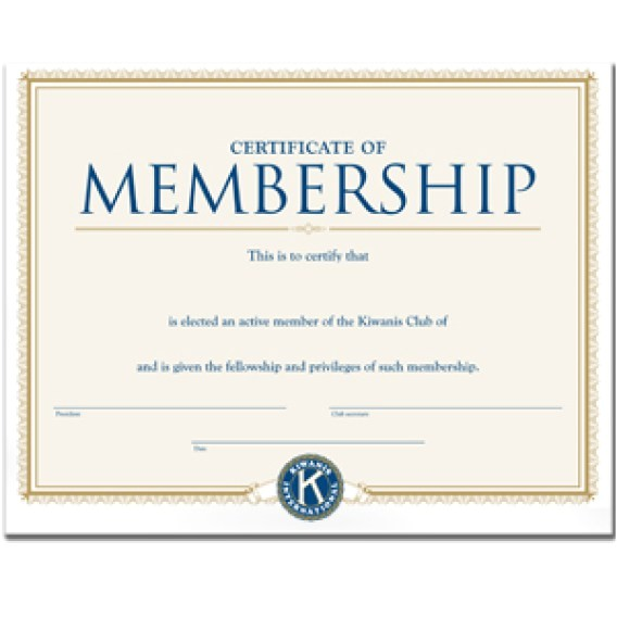 certificate of membership templates