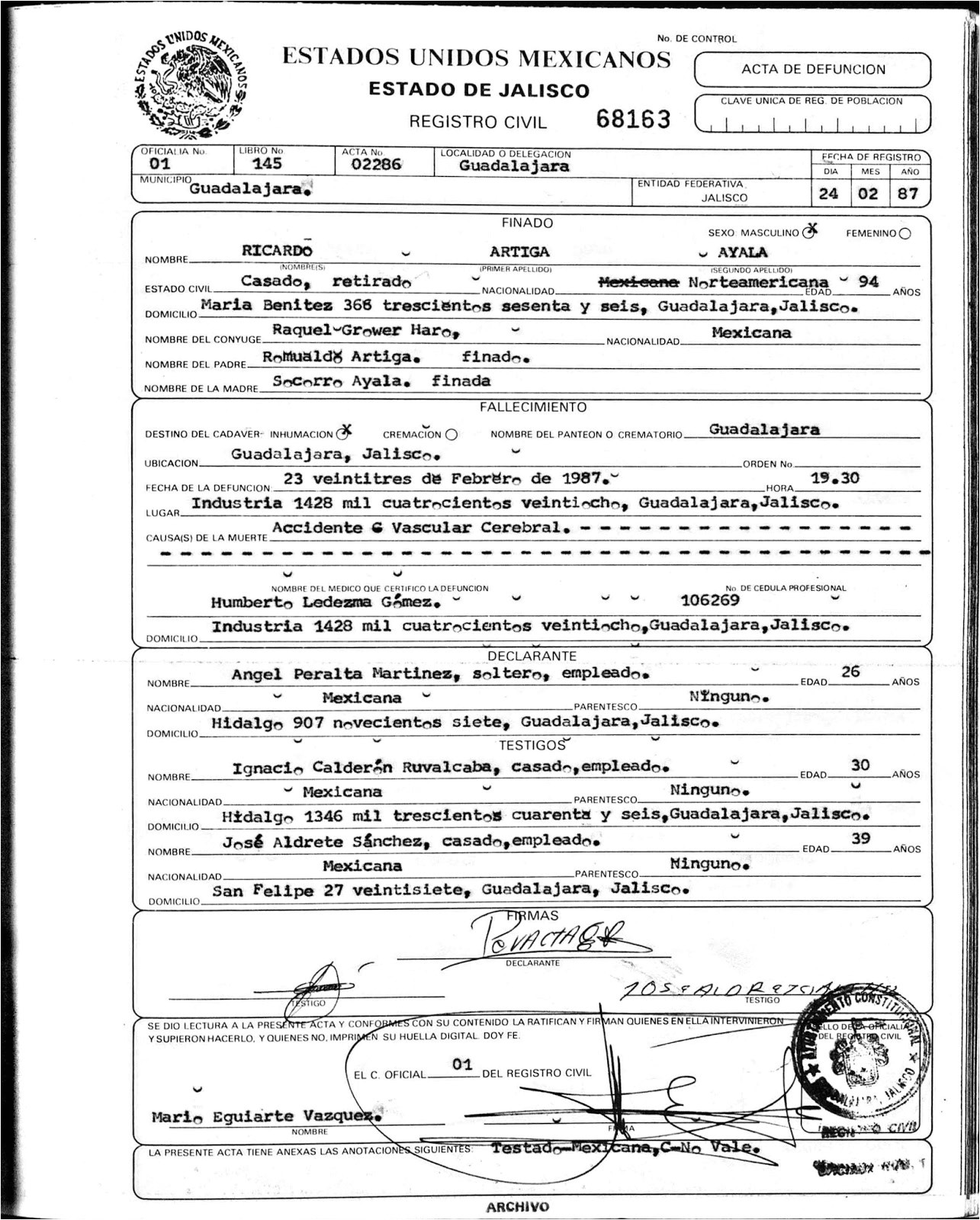 Pics Photos Birth Certificate Translation Template Spanish: Mexican Death Certificate Template