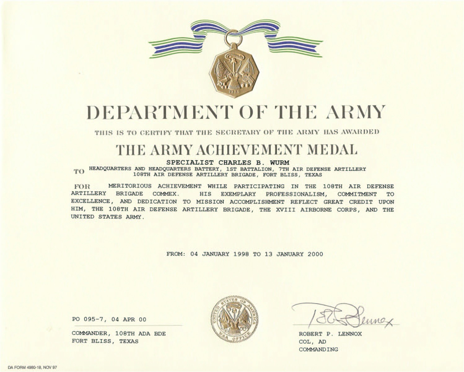 Military Award Certificate Template 26 Images Of Army Award Template Paigin Com