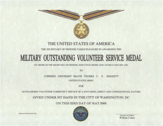 Military Award Certificate Template 29 Images Of Army Volunteer Award Template tonibest Com