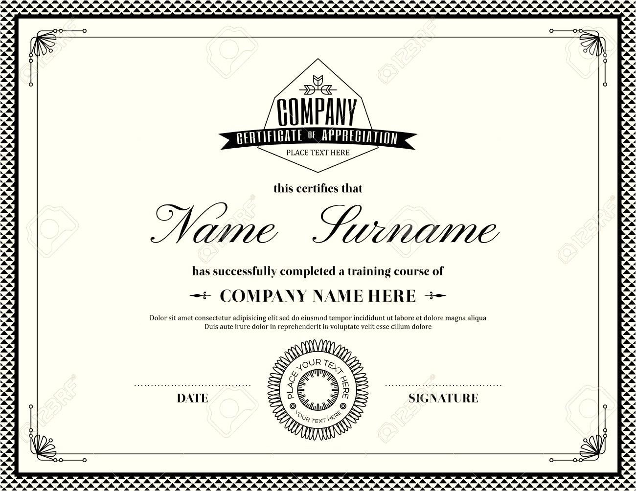 sample military certificate of appreciation