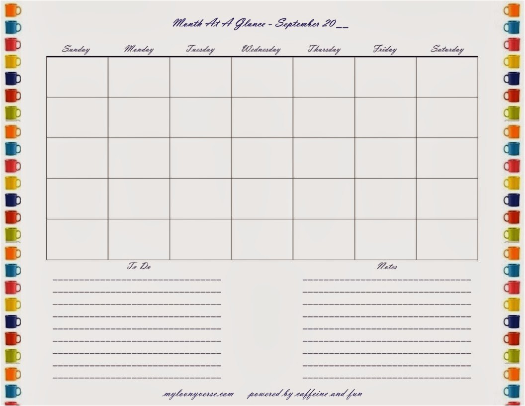 post free month at a glance printable calendar 327078