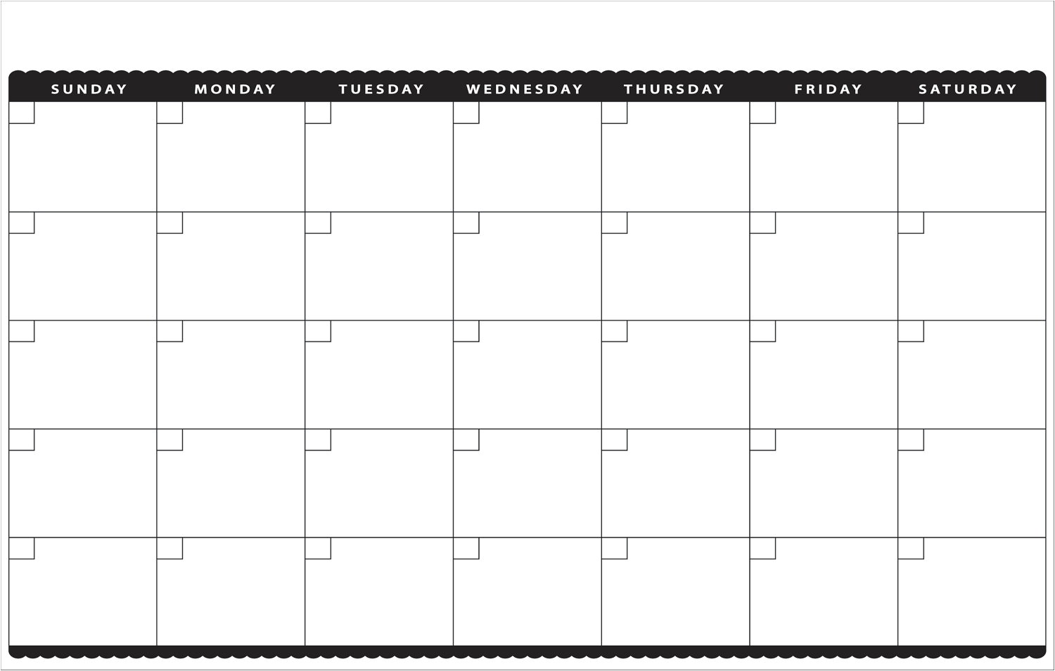 post month at a glance blank calendar printable 340784