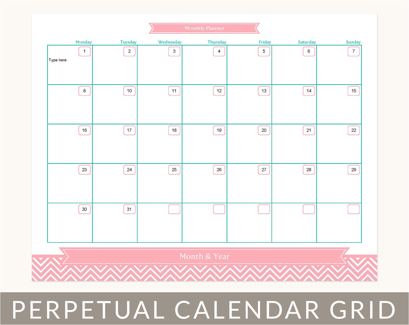 post month at a glance printable 46691