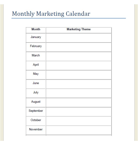 Monthly Marketing Calendar Template 8 Sample Marketing Calendars Sample Templates