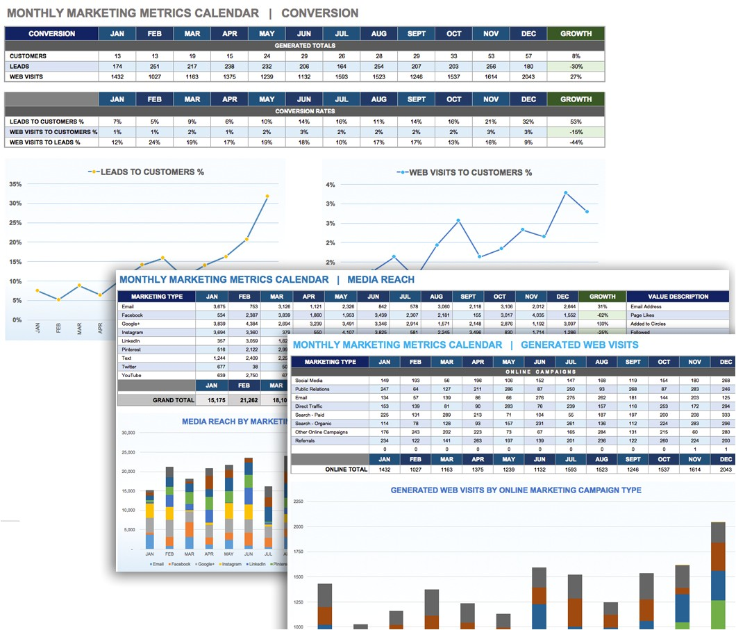 Monthly Marketing Calendar Template 9 Free Marketing Calendar Templates for Excel Smartsheet