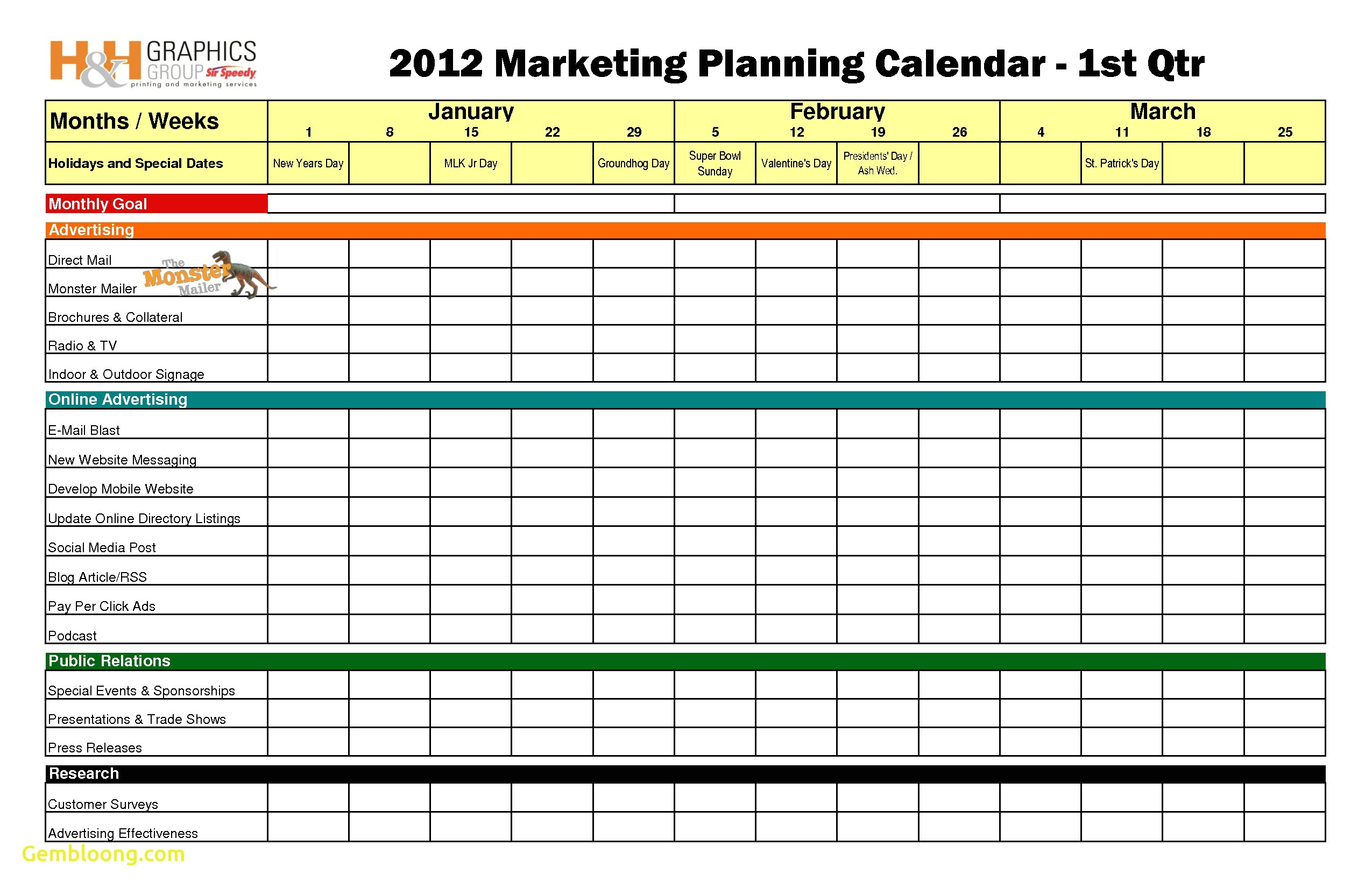 Monthly Marketing Calendar Template Elegant 2015 Calendar Template Excel Best Templates