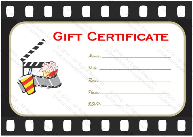 Movie Gift Certificate Template Go to Movie Gift Certificate Template