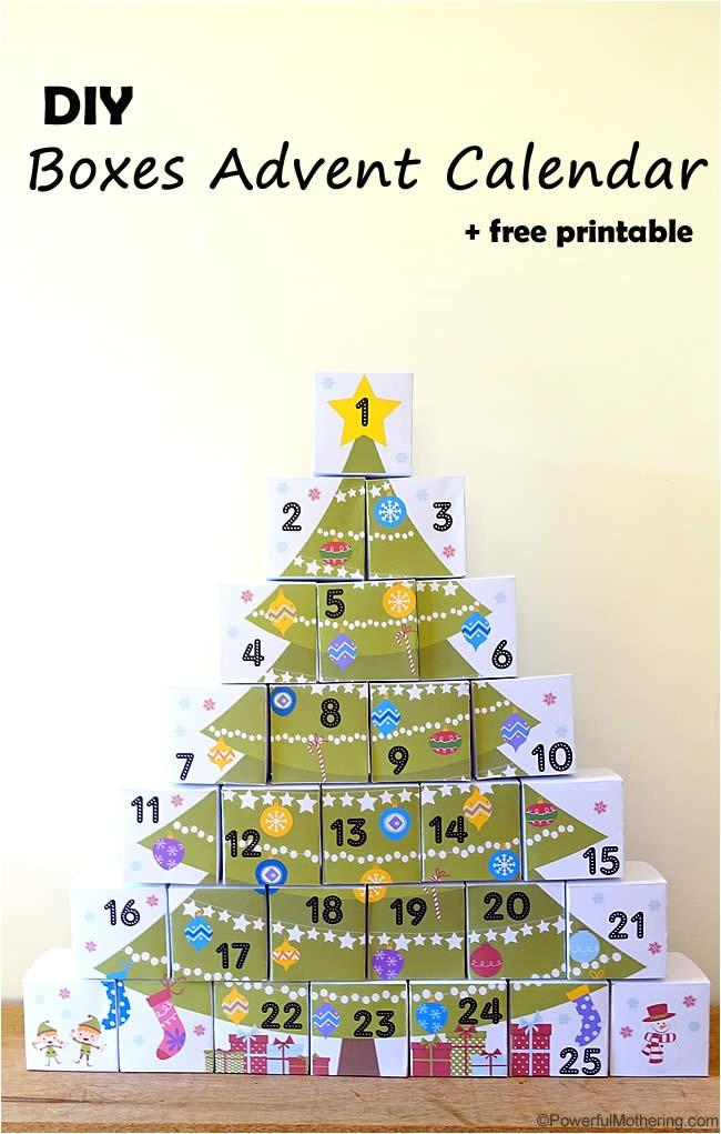 13 free printable christmas advent calendars for kids