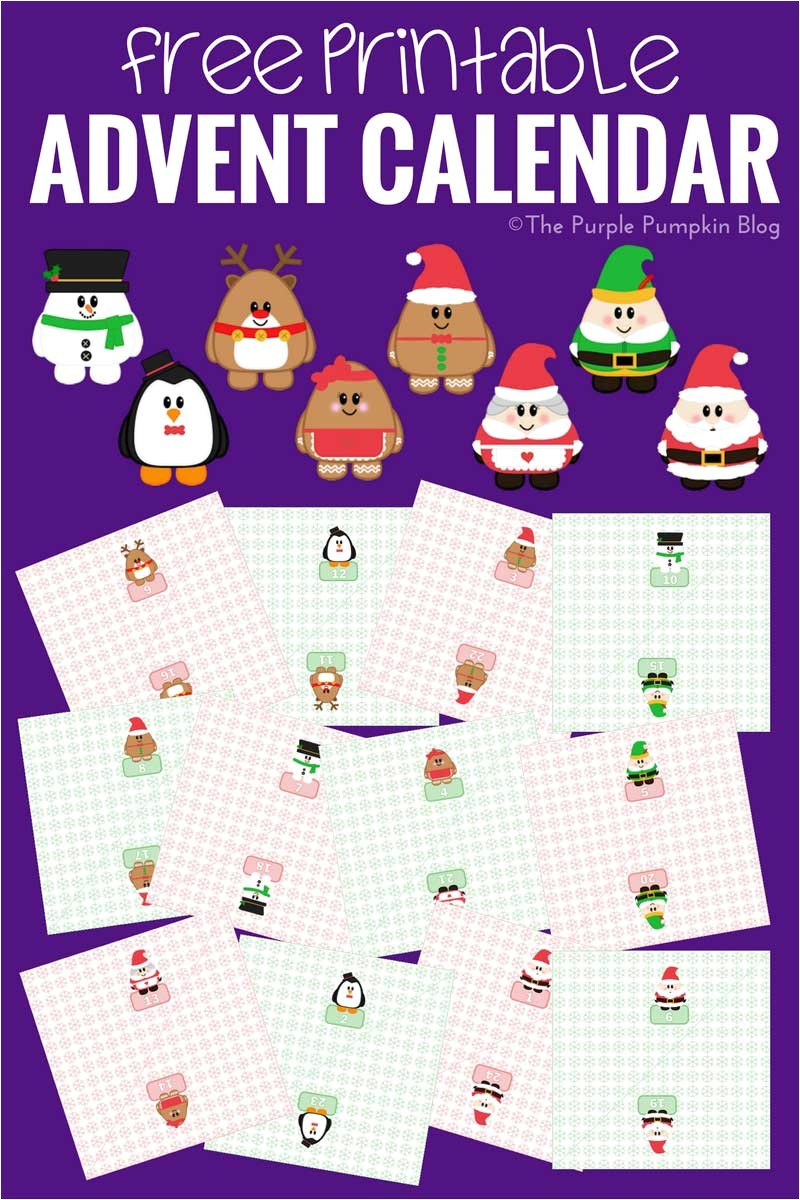 Online Advent Calendar Template Free Printable Advent Calendar Christmas Countdown