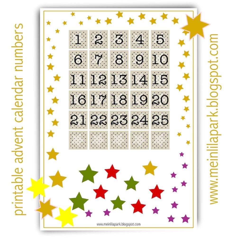 free printable advent calendar numbers