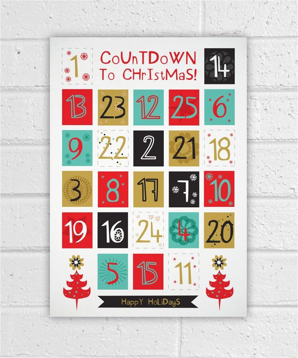 printable advent calendar holiday diy