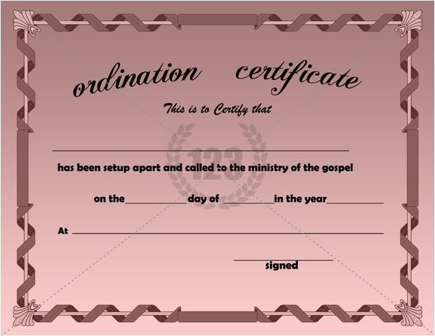 ordination certificate templates 1715