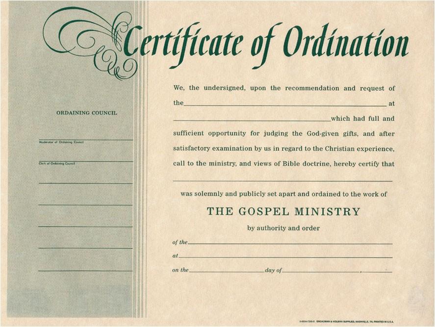 Ordination Certificate Templates ordination for Minister Certificates Certificate