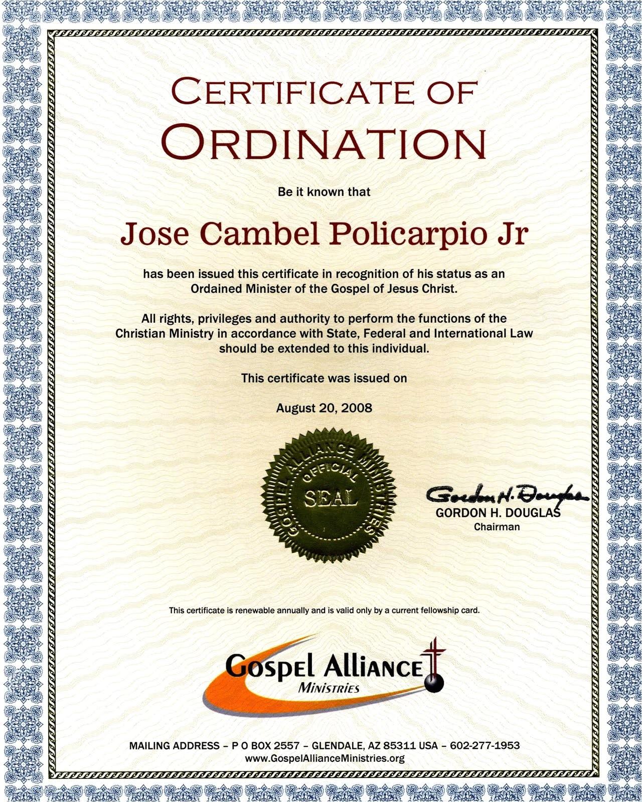 Ordination Certificate Templates Pin ordination Certificate Templates Pictures On Pinterest