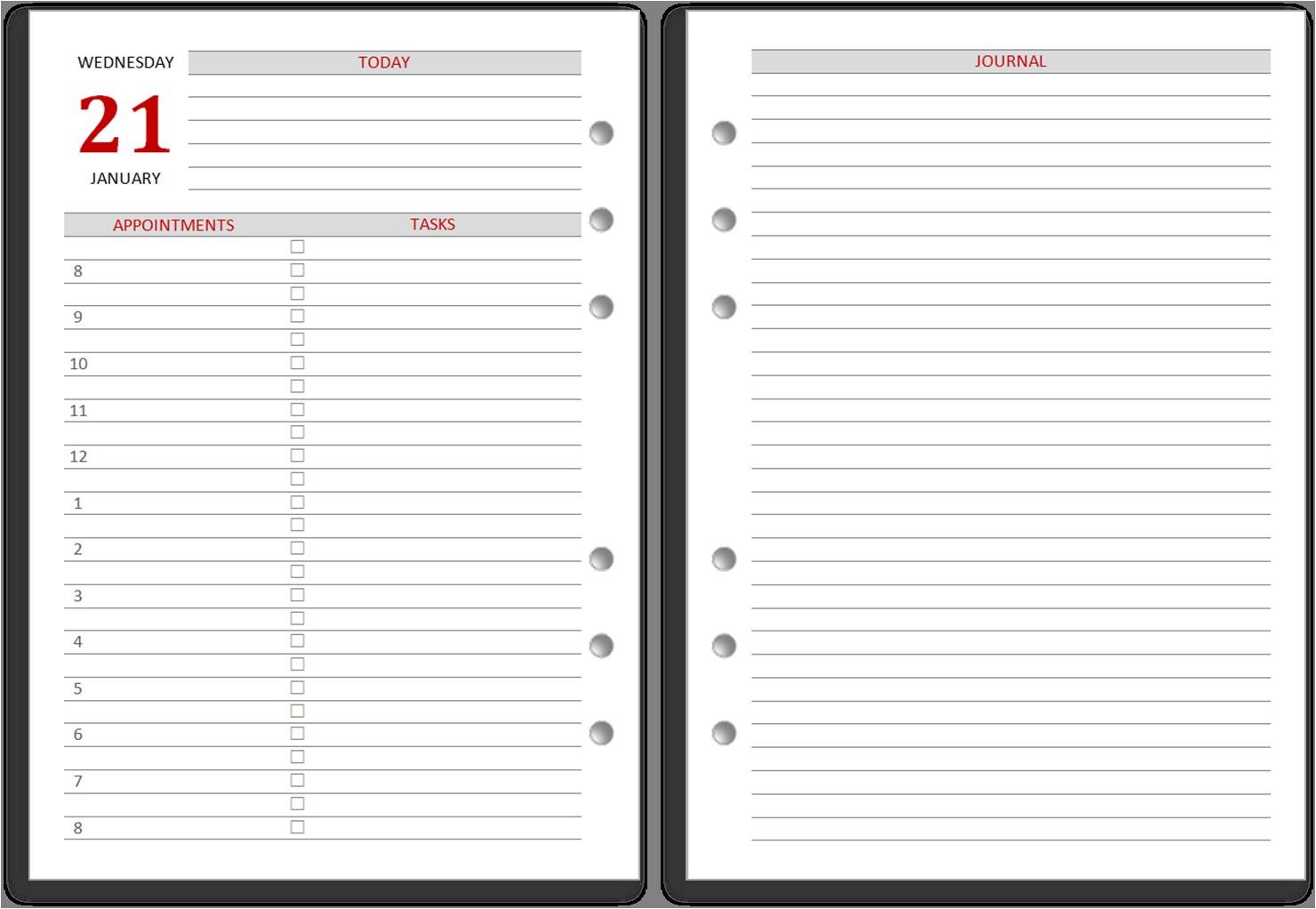 diary inserts