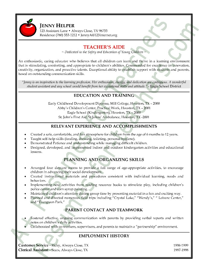 Paraprofessional Cover Letter Templates Paraprofessional Resume Amusing Paraprofessional Resume