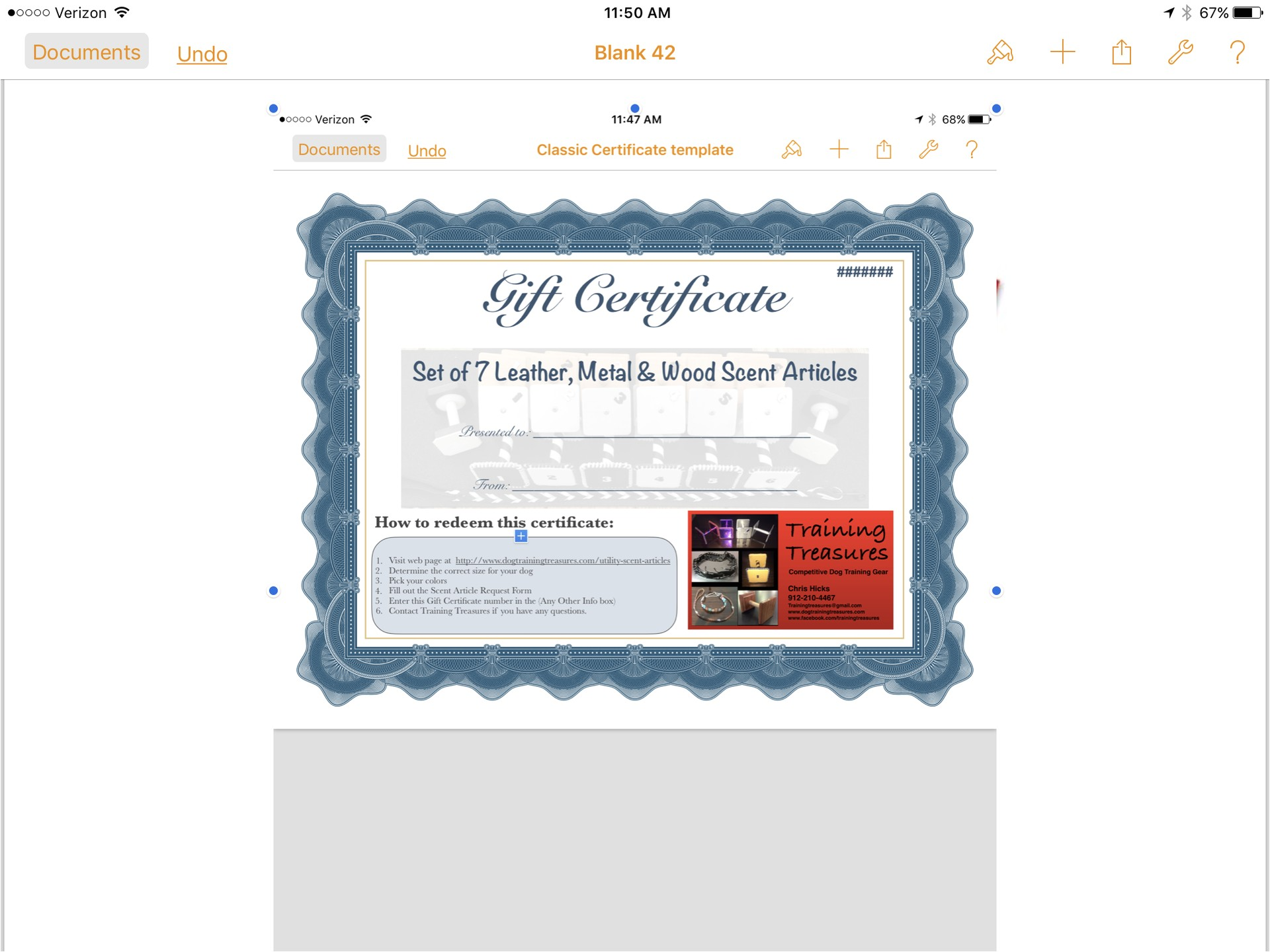 Personal Training Gift Certificate Template Personal Training Gift Certificate Template