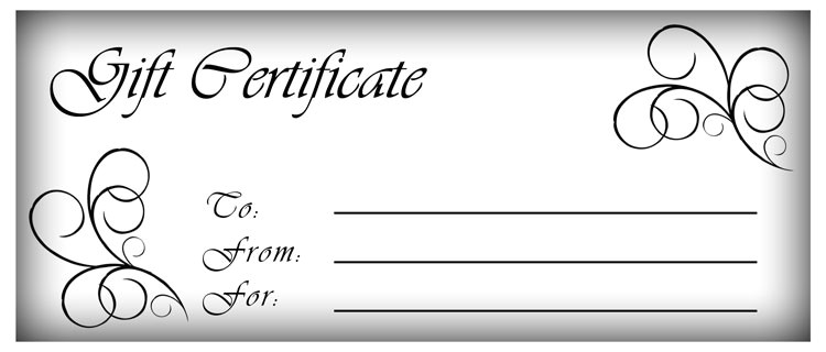 Personalized Gift Certificates Template Free 18 Gift Certificate Templates Excel Pdf formats