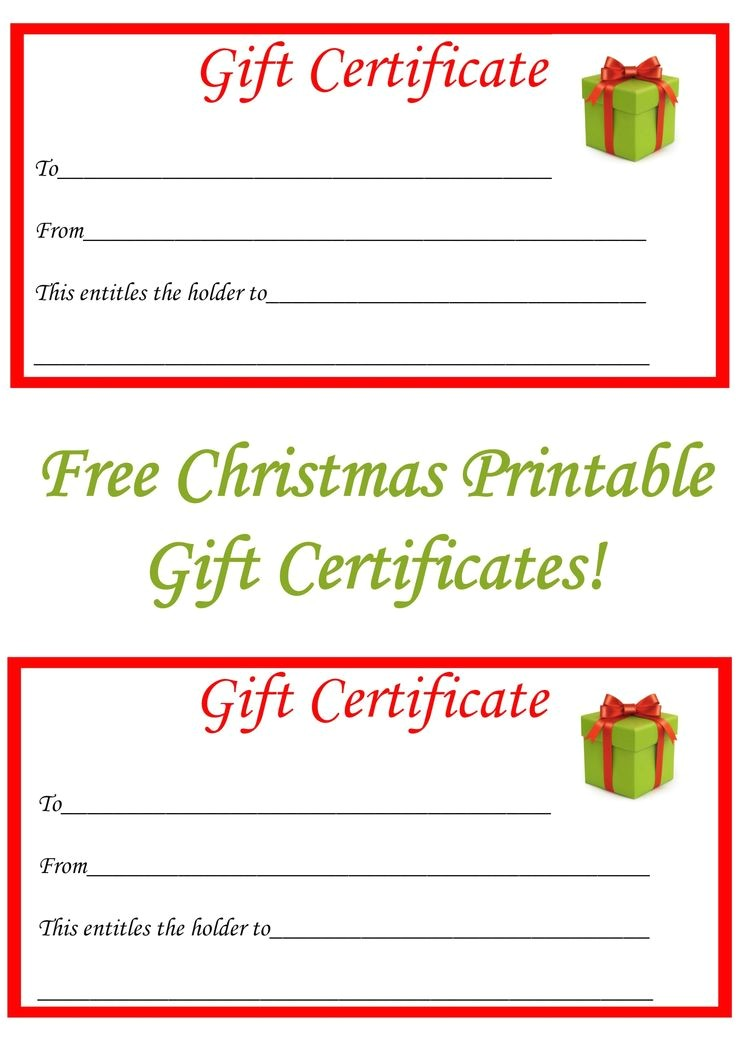 Personalized Gift Certificates Template Free 22 Best Gift Certificate Printables Images On Pinterest