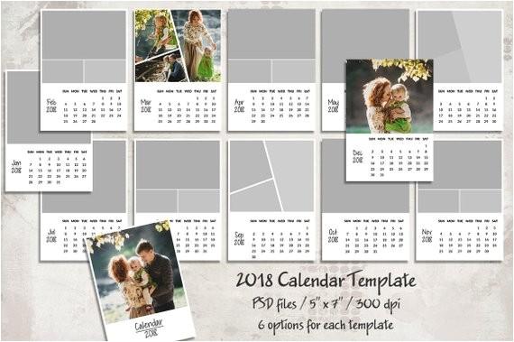 Personalized Photo Calendar Template 2018 Calendar Template 5×7 Personalized Calendar Pocket