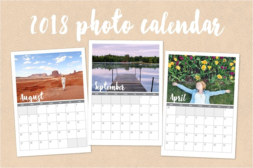 Personalized Photo Calendar Template 2018 Custom Photo Calendar Stationery Templates