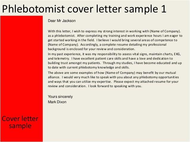 Phlebotomist Cover Letter Template Phlebotomist Cover Letter